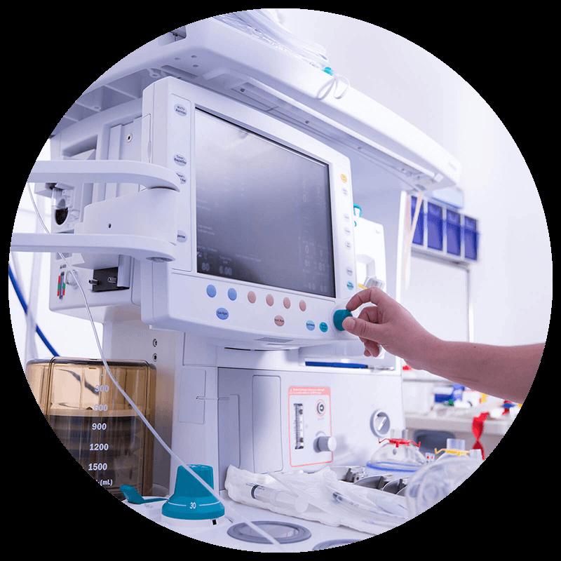 Schnelle und kompetente Hilfe für Anästhesie- / Beatmungstechnik