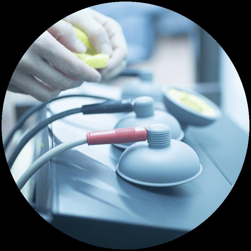 Erfahrene Betreuung physiotherapeutischer Technik